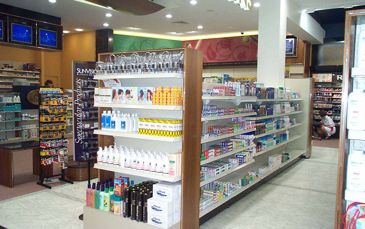 PharmaCAEM Pharmacy Retail Shelving